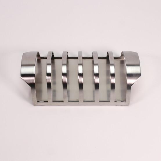 stelton cylinda line toast rack holder minimalist modernist breakfast table accessory arne jacobsen danish design bread stand