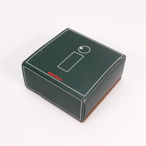 stelton classic cylinda line peter holmblad toothpick holder jar original packaging danish design table accessory minimalist