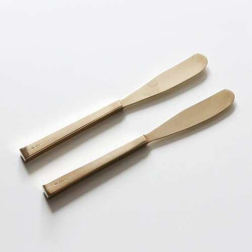 Scanline Butter Knives in Bronze by Sigvard Bernadotte (2 Pc.)