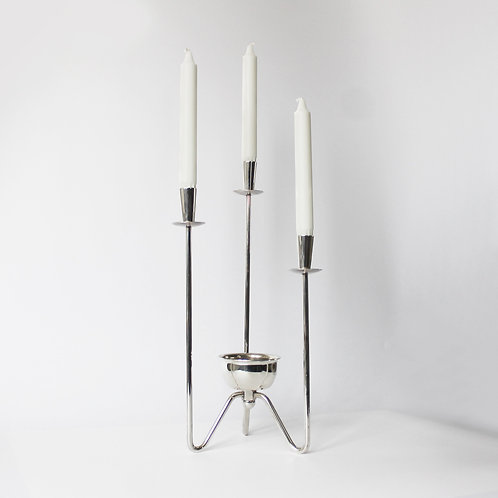 Large Danish Silverplated Centrepiece Candleholder by Berg