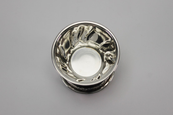 svejfet danish curved design silver tea strainer holder stand drip tray antique vintage rococo style egg cup 830s mid-century