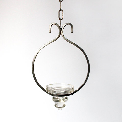 danish wrought iron candle holder hanging glass tealight ceiling light round scandinavian farmhouse style