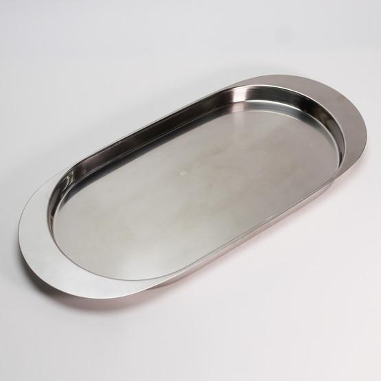 stelton cylinda line fish tray serving dish strainer stainless steel arne jacobsen danish minimal mid-century modern design