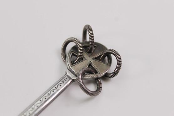 danish skønvirke arts and crafts silver spoon by p hertz in nordic scandinavian viking style