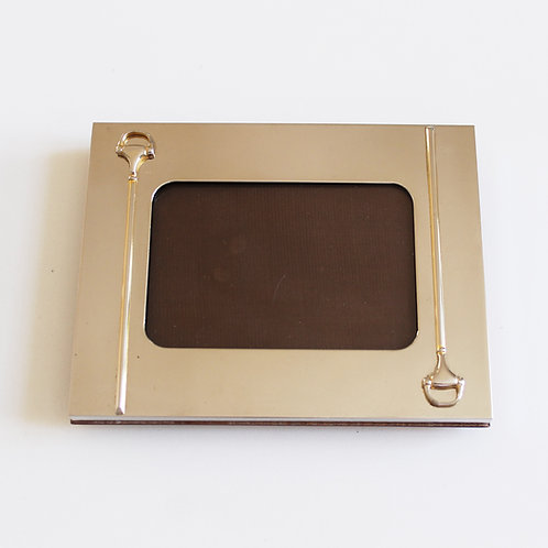 Vintage Gucci Silverplated Horsebit Photoframe