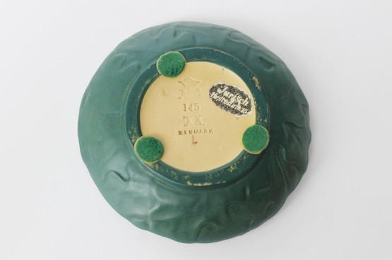 danish terracotta pin trinket dish p ipsens enke oak leaves acorn art nouveau