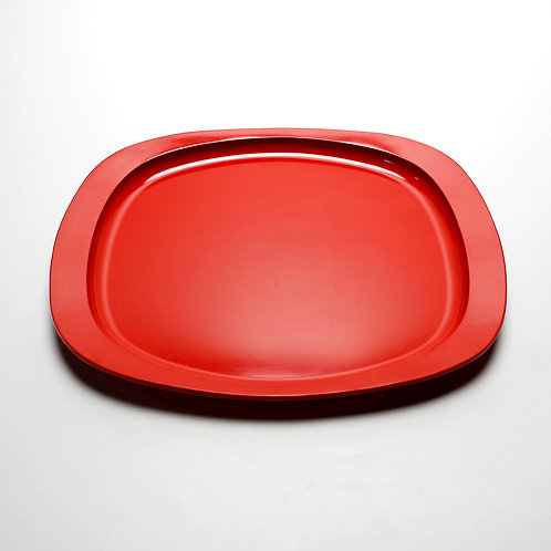 georg jensen henning koppel midcentury modern danish design red melamine plastic serving tray oval superellipse
