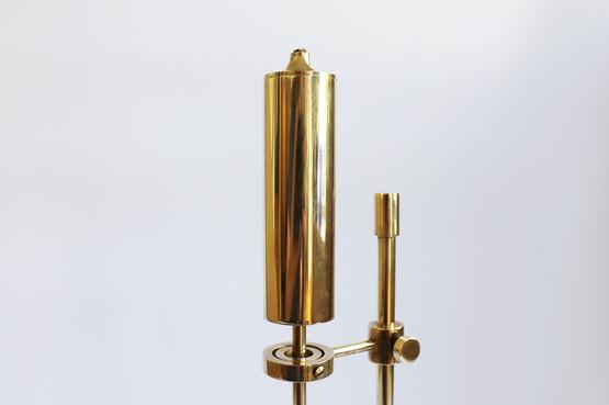 danish design brass candle holder oil lamp pendulum ilse ammonsen high shine gyro ship daproma copenhagen
