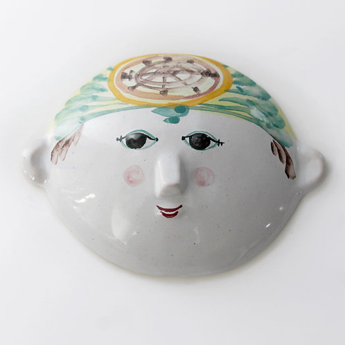 Handmade Ceramic Wall Decoration Mask/Face by Björn Wiinblad