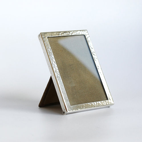 Danish Silver Photo Frame with Hammered Finish, 1930