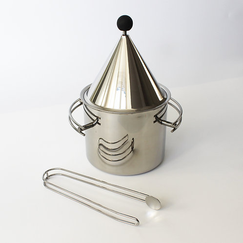 'Danish Steel House' Stainless Steel Ice Bucket by Bent Falk