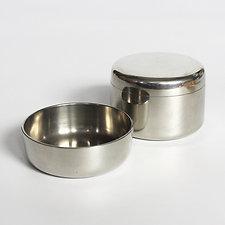 Set of Georg Jensen Pewter Trinket Dish and Jar by Henning Koppel