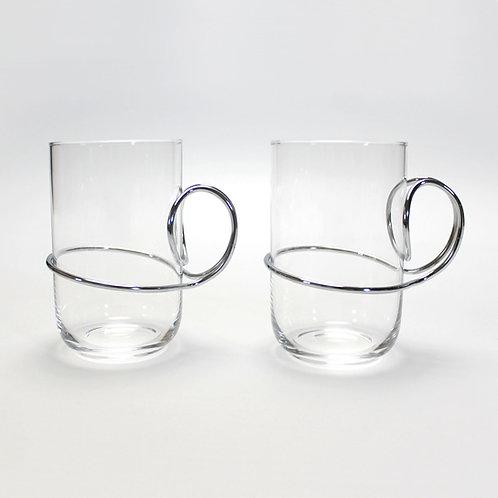 rare iittala hot drink tea glasses vivianna torun bulow hube bülow hübe danish georg jensen jewellery design bracelet sculpt