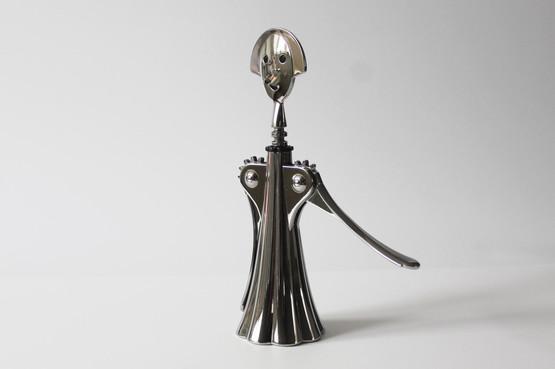 alessi anna g alessandro mendini bottle opener corkscrew woman lady girl chrome finish italian design contemporary barware