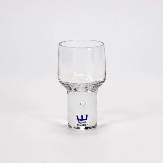 kosta boda vicke lindstrand swedish sweden shot glass handblown crystal suspended bubble floating heavy mid-century design