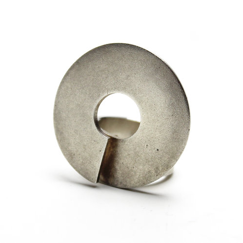 Circular Disk Design Lapponia Sterling Silver Ring
