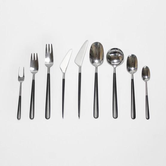 erik herløw herlow danish modern design minimalist cutlery set nylon black stainless steel contrast kontrast original box