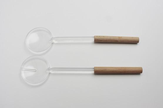 guzzini italian contemporary modern design perspex plastic acrylic salad servers season polo tiffany wooden handles