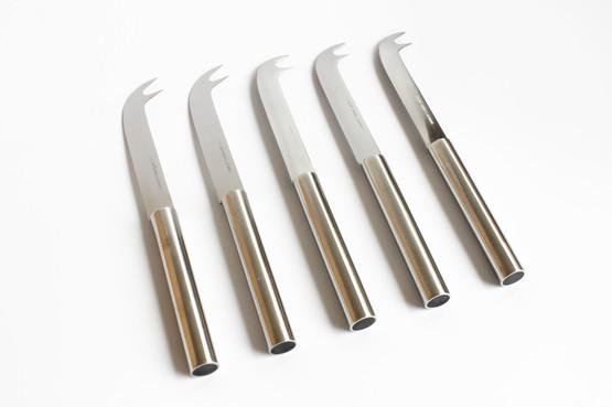 danish design stainless steel cheese bar citrus lemon knife serrated fork stelton peter holmblad minimalist cylinda line