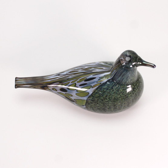 birds by toikka oiva nuutajarvi nuutajärvi iittala finnish unique art glass hand-blown 1997 Song Thrush Laulurastas green