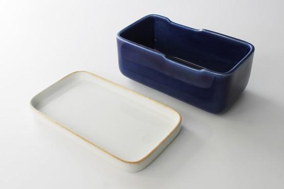 rorstrand rörstrand ceramic sweden swedish design butter dish primula blue flower floral handpainted box lid