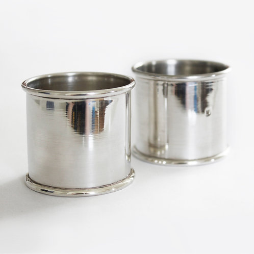 Pair of Egyptian Hallmarked Silver Napkin Rings