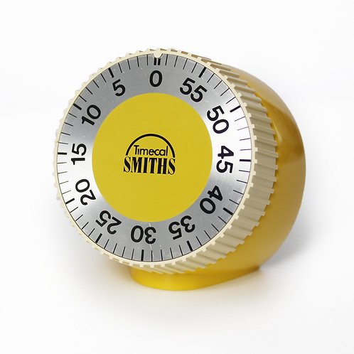 Vintage West-Germany Sun Yellow Kitchen Timer by Timecal Smiths