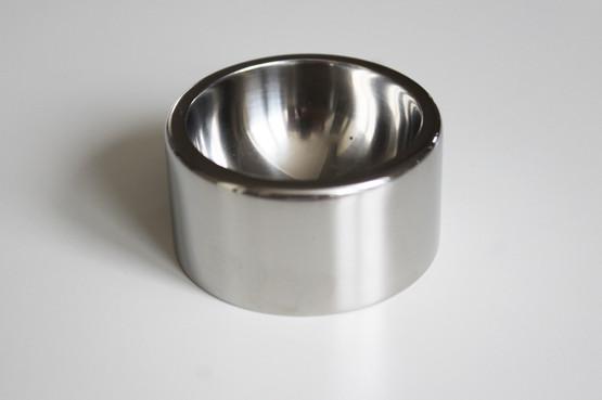 georg jensen magnus stephensen tuja tanaquil cruet set stainless steel salt cellar spoon open pepper shaker danish midcentury