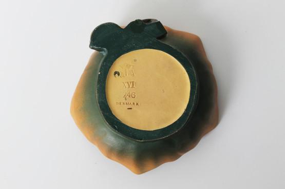 danish terracotta pin trinket dish p ipsens enke poppy flower art nouveau marks