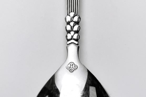 art deco silverplated caddy or sugar spoon with grass or wheat corn motif danish modern