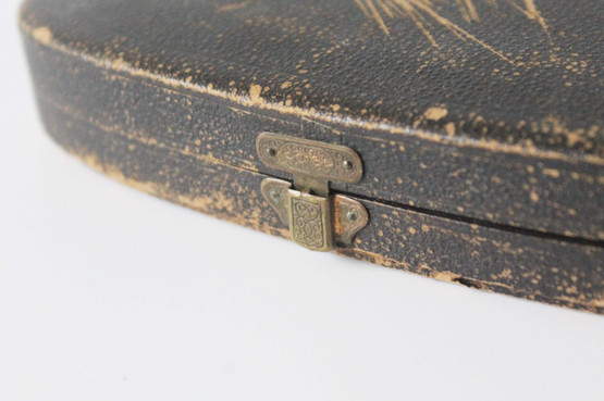 antique spoons in box set silverplated twisted barley twist stem danish denmark 19th century
