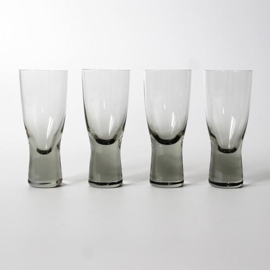 danish glassware holmegaard scandinavian canada glass stemware smoke grey shot per lutken