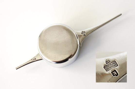 danish sterling silver mid-century modern design cocktail jigger measure drink alcohol eigil jensen anton michelsen barware