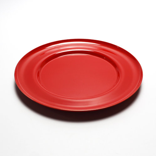georg jensen henning koppel red melamine plate dish charger serving service table dinner danish modern design