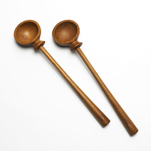 Set of Teak Salad Servers by Jens Harald Quistgaard (IHQ) for Nissen Denmark