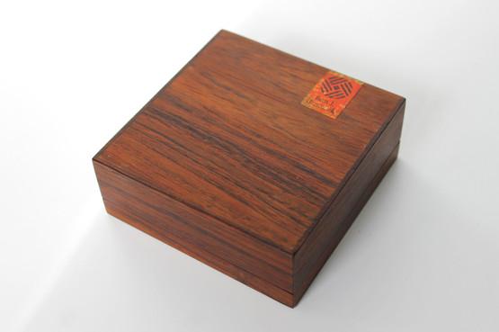 finn l rosewood palisander coffee table box cigarette ceramic tile green danish design midcentury modern mad men keepsake