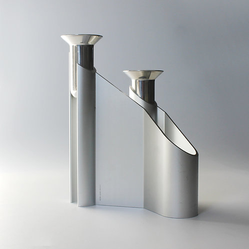 Georg Jensen 'Labyrinth' Candleholder in Aluminium by Lene Munthe
