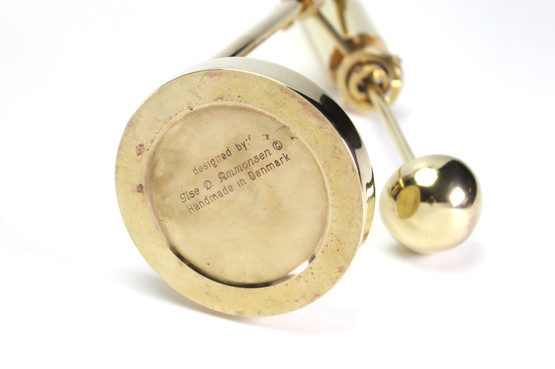 danish mid-century modern nautical oil lamp gyro design copenhagen ilse d ammonsen brass candleholder pendulum daproma