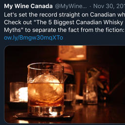The 5 Biggest Canadian Whisky Myths. A post to continue establishing brand authority.