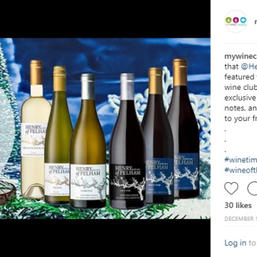 Announcement of the Henry of Pelham Estate wines being the December Wine Club feature