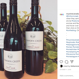 Announcing the addition of Tinhorn Creek wines to the website's selection