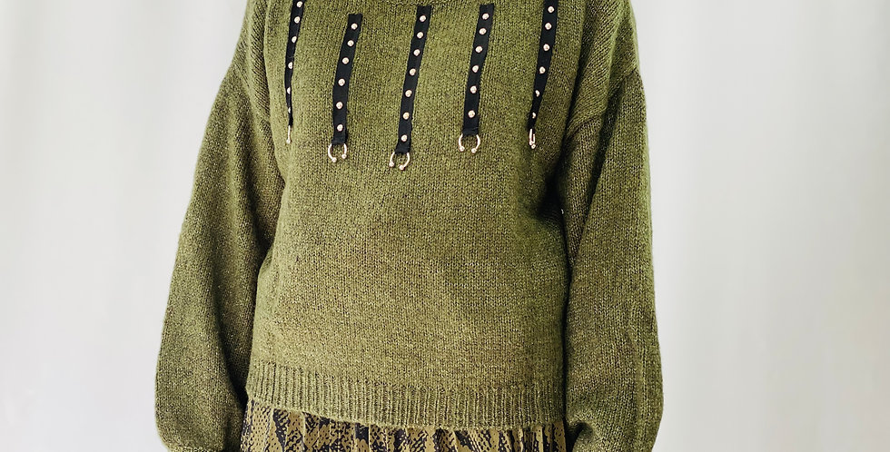 Molly Bracken x Lili Sidonio Khaki Pullover