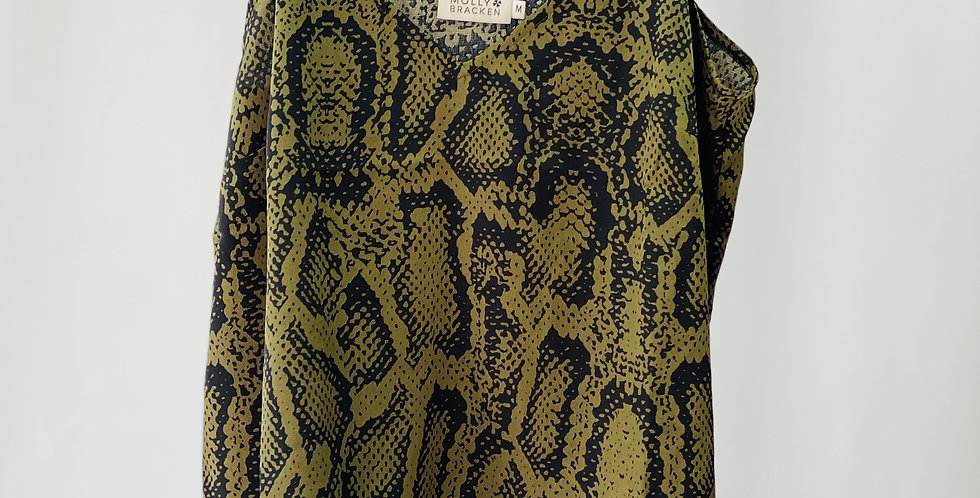 Molly Bracken Camisole Khaki Snake