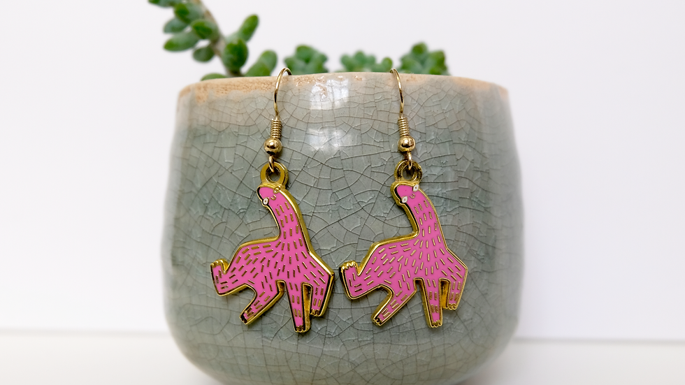 Sausage Horse Earrings