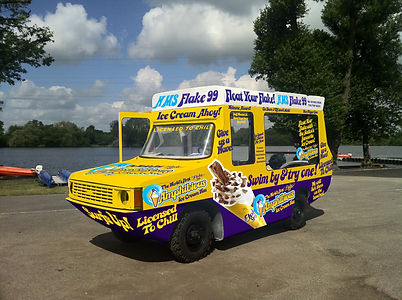 Cadbury amphibious ice cream van