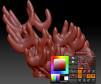 ZBrush digital sculpting video of coral reef