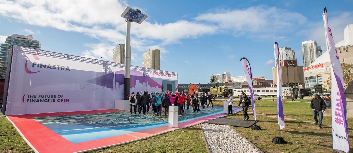Finastra World's Largest Selfie Stick in Toronto