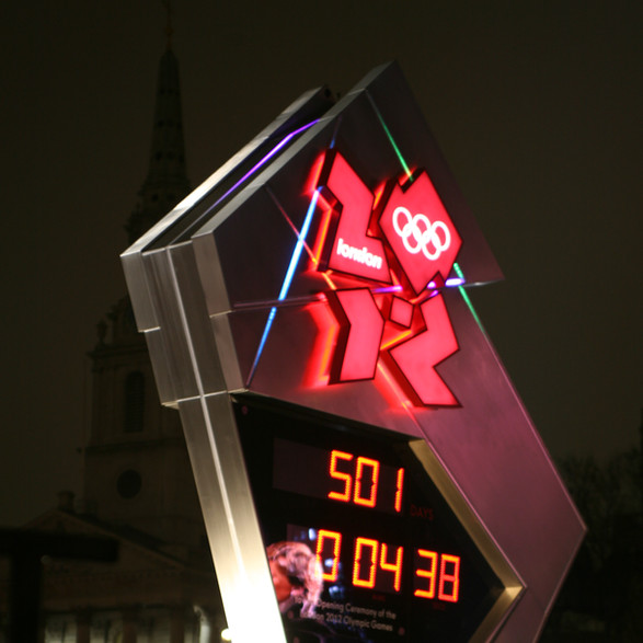The Omega 500 Day Countdown Clock. London 2012