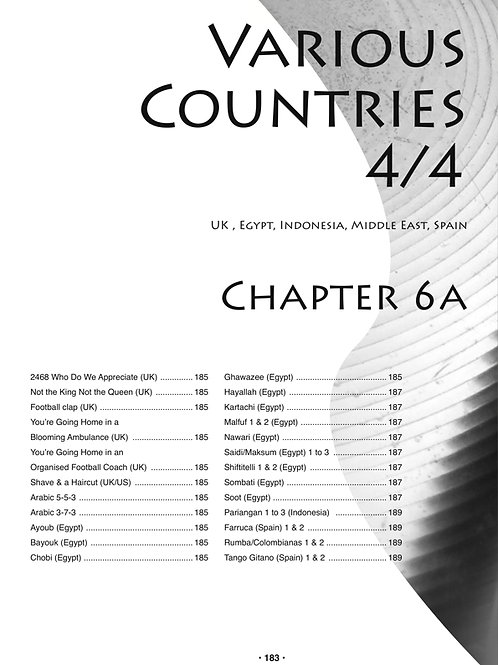 Chapters 6A & 6B Various Countries 4/4 and 12/8. 58MP3s