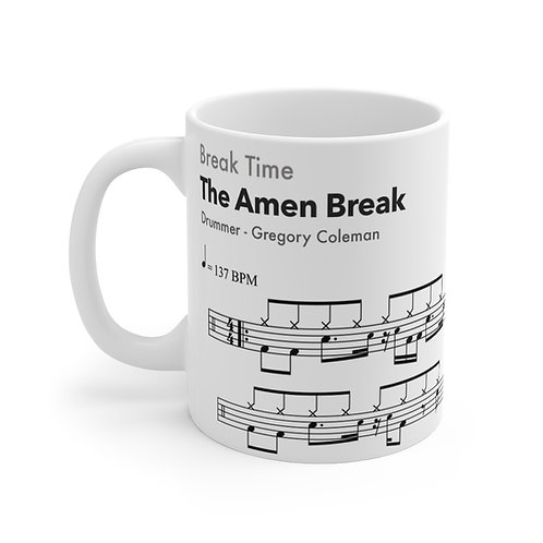 Famous Drum Samples #1 - The Amen Break - high quality ceramic Mug 11oz
